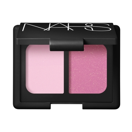 NARS Bhoutan Eyeshadow Duo -- Soft pink tulle and bright pink with gold shimmer