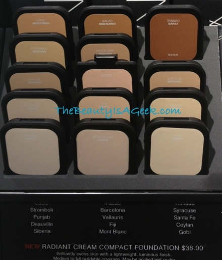 Various shades of NARS Radiant Cream Foundation...except my precious New Guinea :(