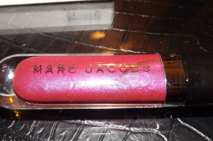 Close-up of 'Stolen Kisses' Lip Vinyl from Marc Jacobs Beauty. Does my new digital SLR camera take great pics or what?