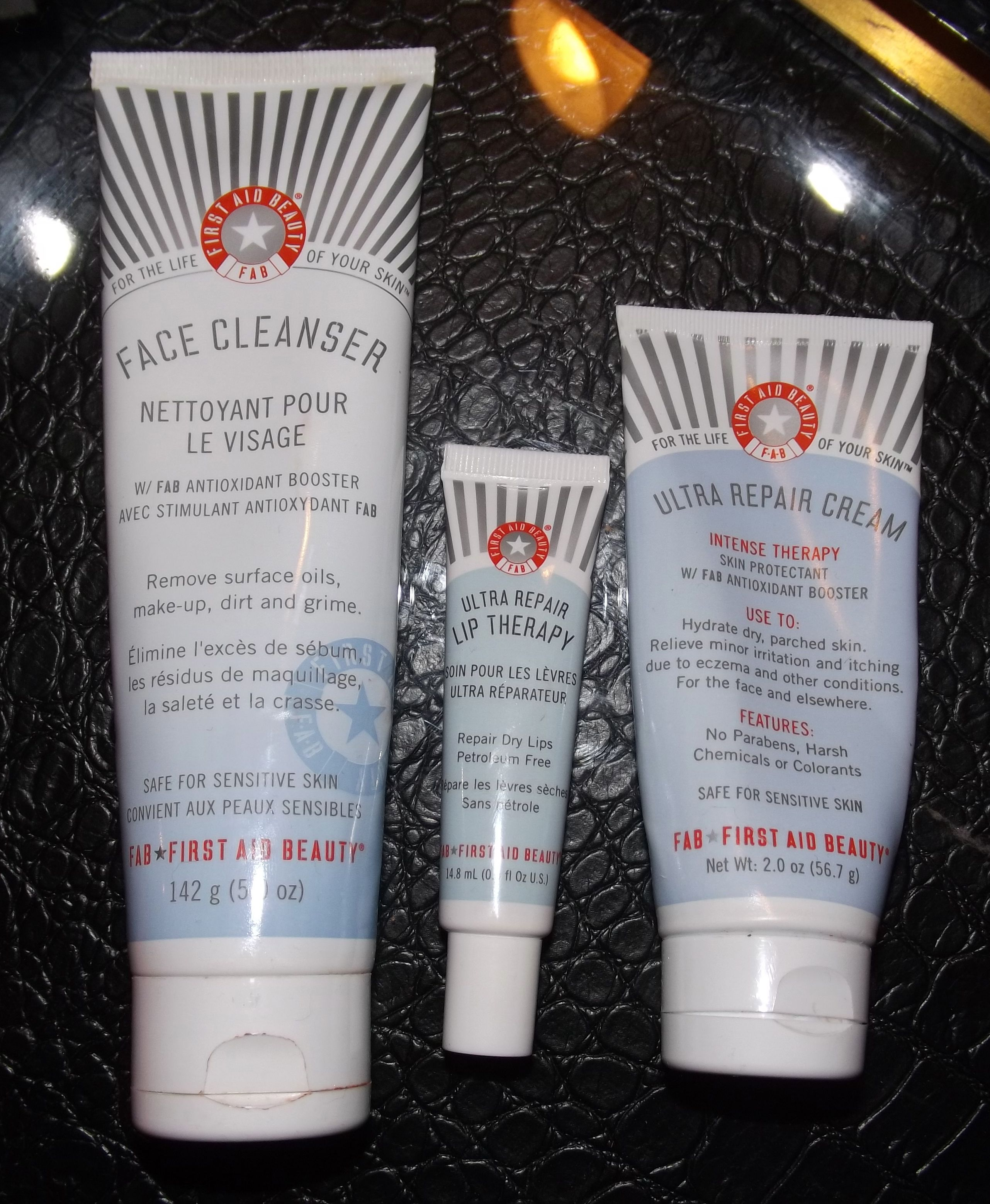 First Aid Beauty Ultra Repair Cream Face Cleanser And Lip Therapy