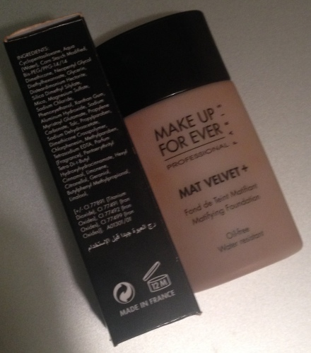 Make Up For Ever Velvet Mat Plus Foundation in #75 Shade (Ingredients)